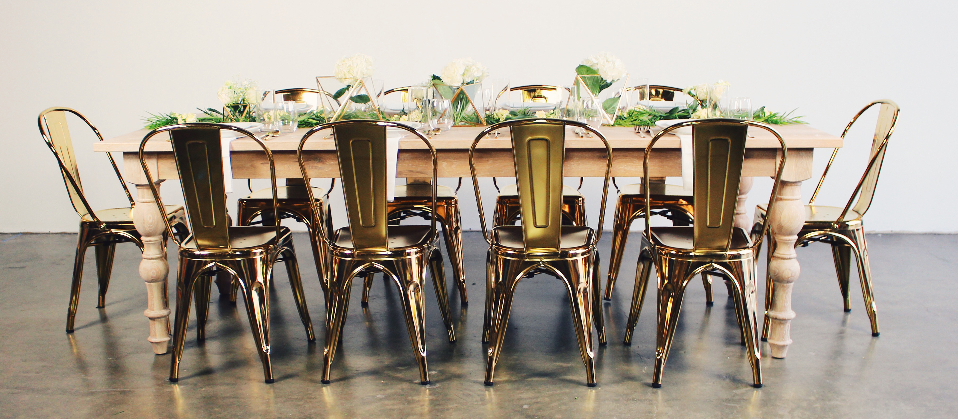 Header_Tolix Gold Dining_Light Table