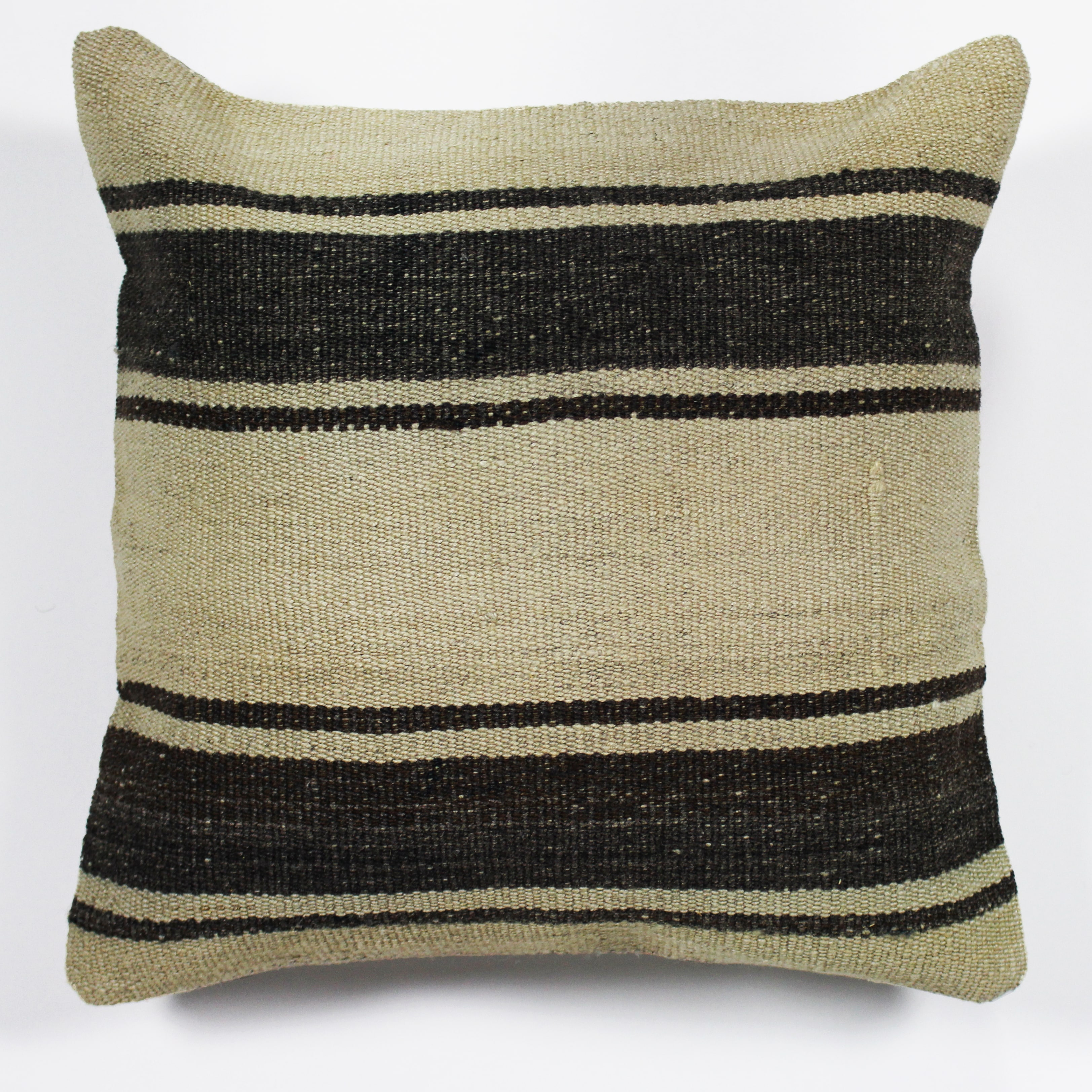 Pillow Black Cream Stripe Collective Rentals Design